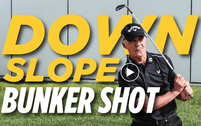 Pete Cowen: How to hit a downslope bunker shot