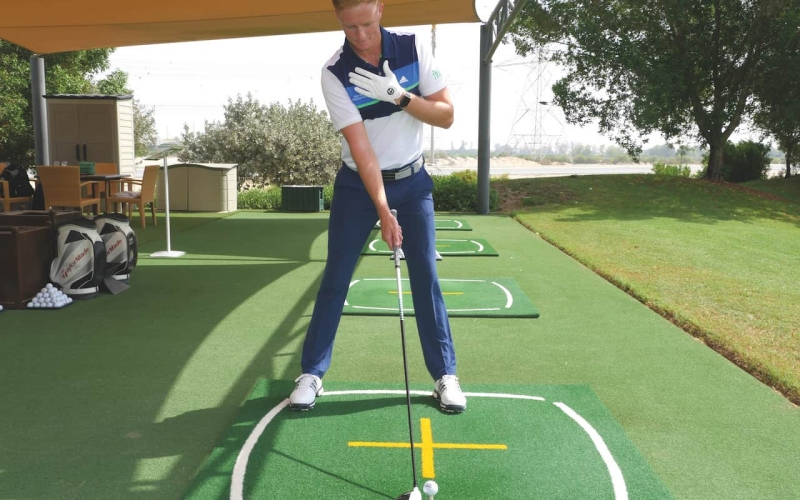 Build a solid base to hit longer, straighter drives