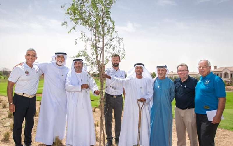 Jumeriah Golf Estates begins tree planting programme to celebrate Sheikh Zayed's vision of sustainability