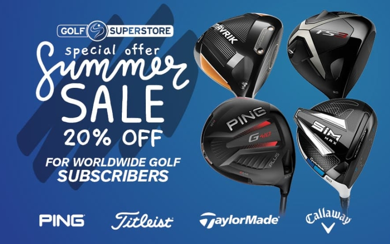Worldwide Golf subscribers – Golf Superstore extend 20% off until August 31st