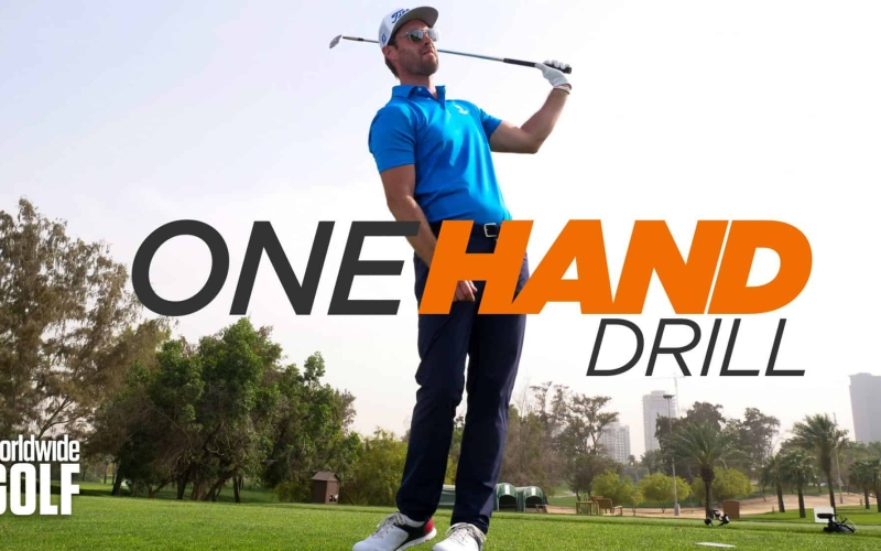 One Hand Drill to strike the ball cleaner | by Stephen Deane (Emirates Golf Club)