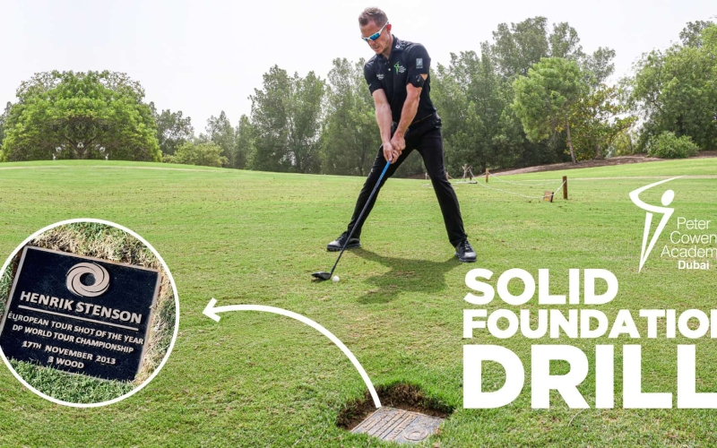 The Peter Cowen Solid Foundation Drill | by Jonathan Craddock (Jumeirah Golf Estates)