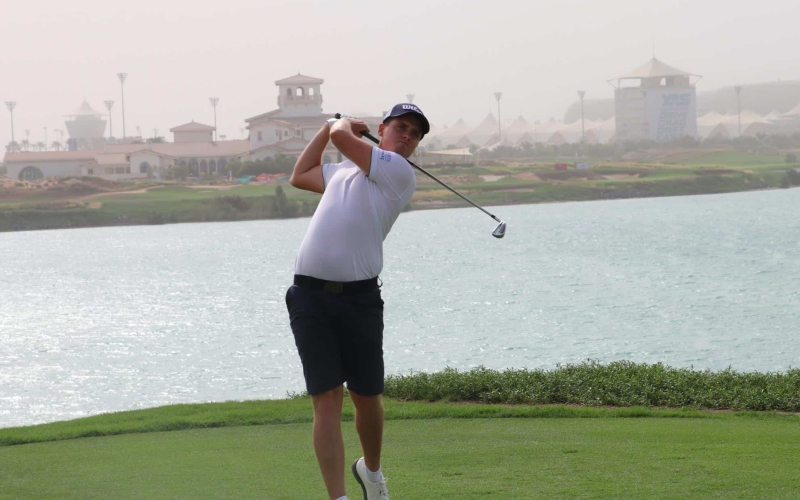 Abu Dhabi Open leader Allan in full flow as he goes into the final stretch with a two-shot lead