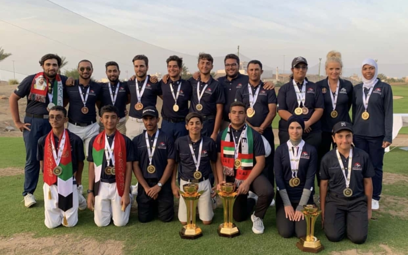 UAE players celebrate huge medal haul at the GCC Golf Championships