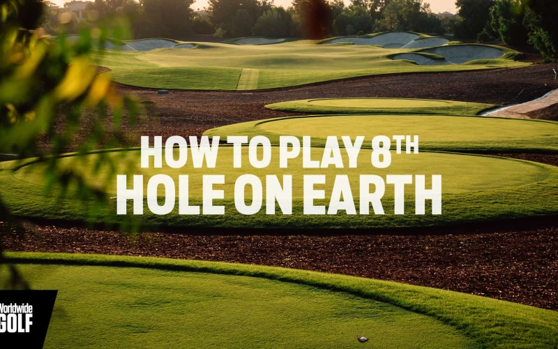 How to play the 8th hole on the Earth course at Jumeirah Golf Estates