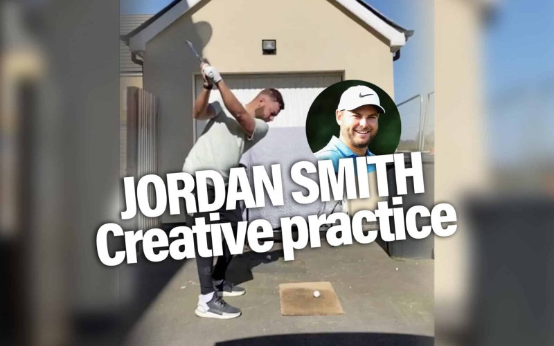 Doormat, clothes rail and bedsheet golf – Jordan Smith gets creative!