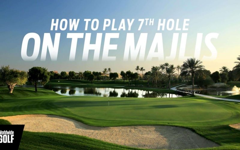 How to play the 7th hole on the Majlis at Emirates Golf Club