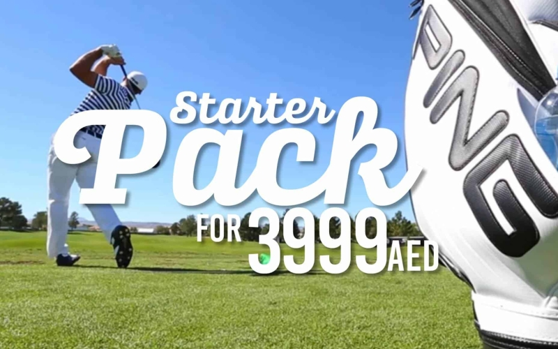 Full set of golf clubs, plus shoes and accessories for only 3999 Dirhams!