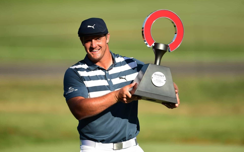 DeChambeau had some crazy stats (both good and bad) in Rocket Mortgage Classic win