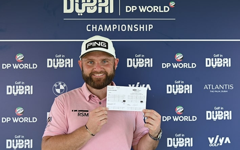 Red-hot Sully breaks course record with a 61 to lead the Golf in Dubai Championship presented by DP World