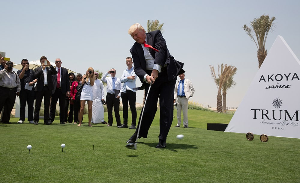 Trump International Golf Course Dubai exclusive with the ...