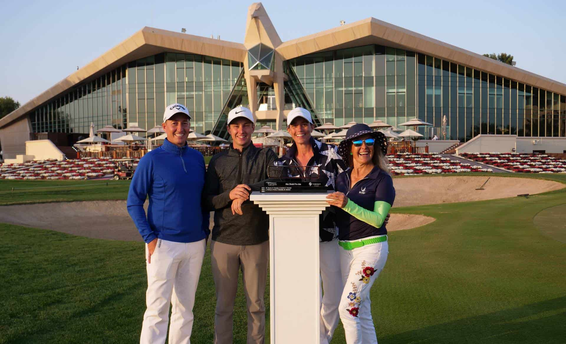 Troon Abu Dhabi Pro-Am 2020 Winning Team