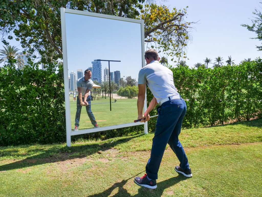golf practice session